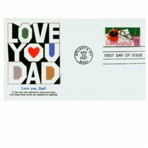 1987 Fathers Day Envelope Cachets