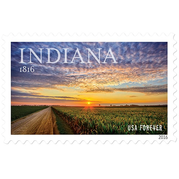 Indiana Statehood stamp issued