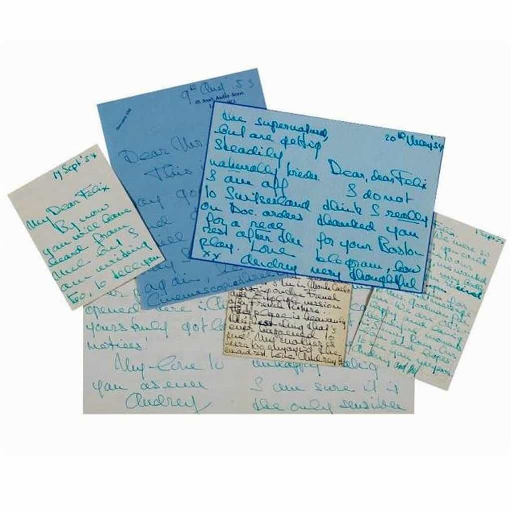 Audrey Hepburn Letters Collection Auctioned