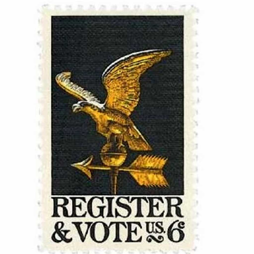Register and Vote Commemorative 1968 stamp