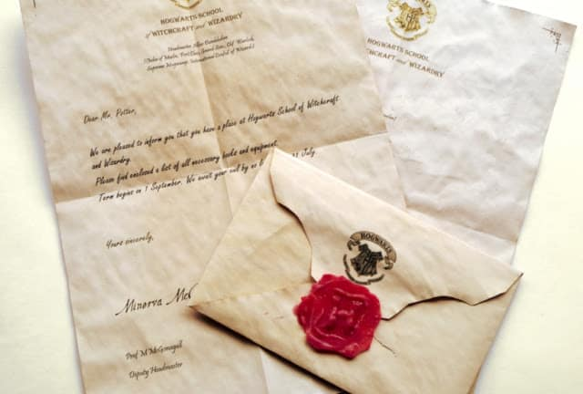 Harry Potter DIY Hogwarts Acceptance Letter