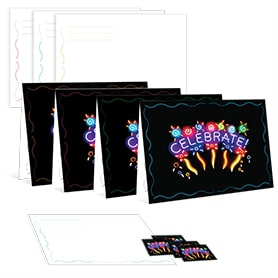 Neon Celebrate Stamp Coordinated Notecards