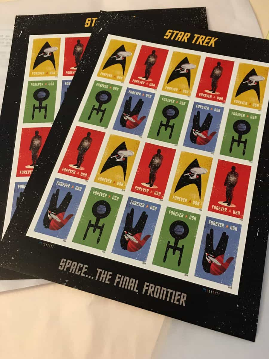 Star Trek Forever Commemorative Stamps Today