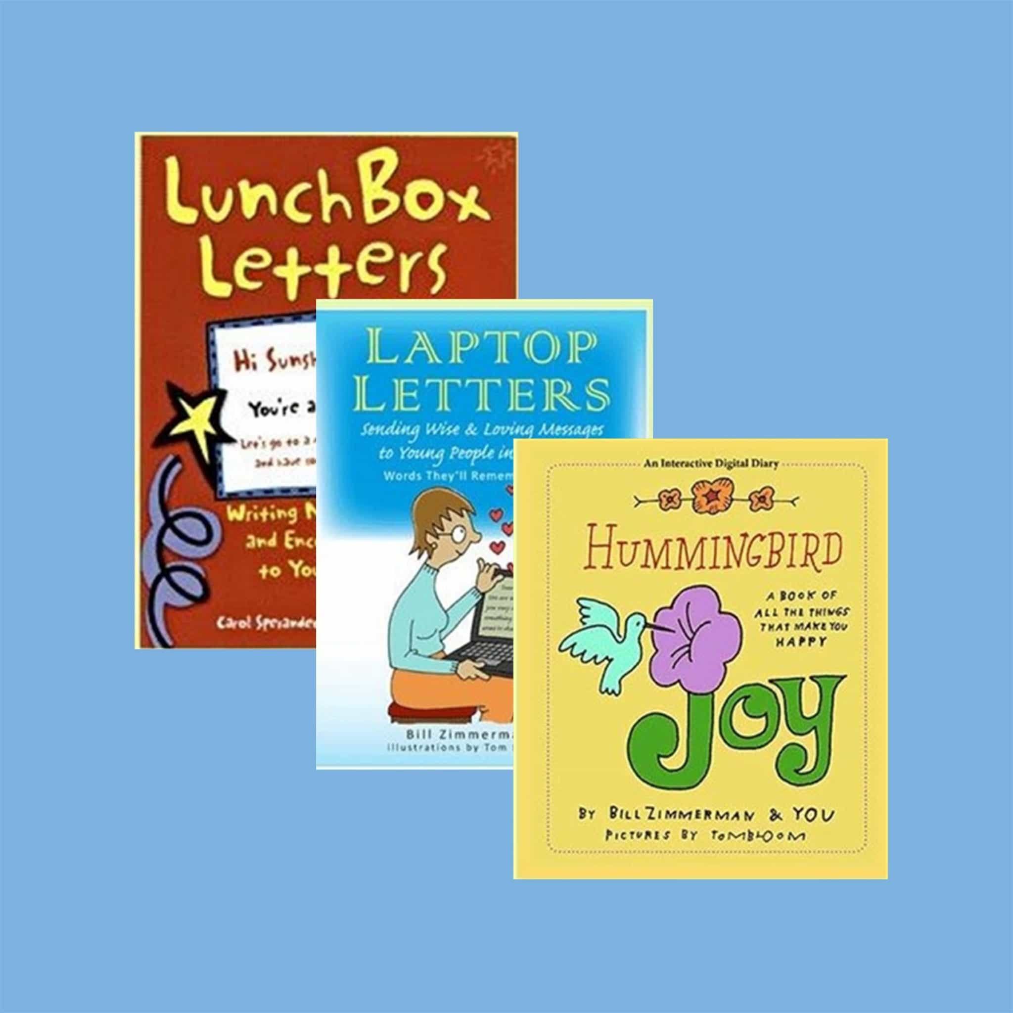 """Lunchbox Letters"", ""Laptop Letters"", & ""Hummingbird Joy"" – books by Bill Zimmerman"