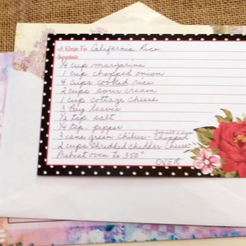 Recipe letters