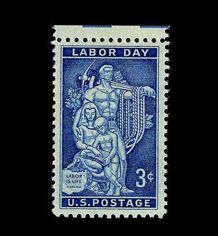 Labor Day 1956 Commemorative Stamp