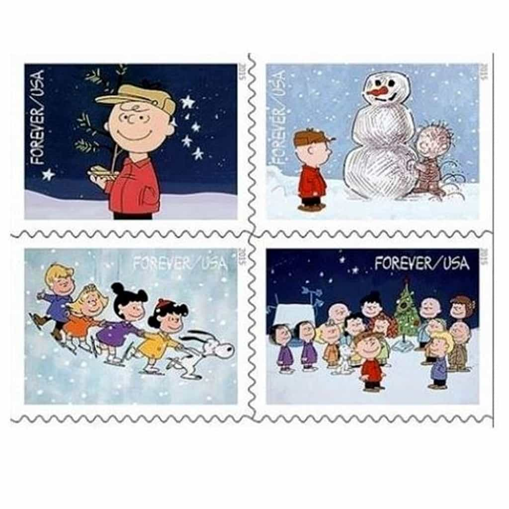 New Charlie Brown Christmas stamp(s) goes on sale today