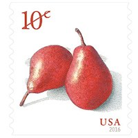 10 Thousand Red Pears Stamps