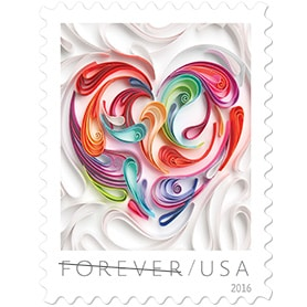 Quilled Paper Heart stamps available