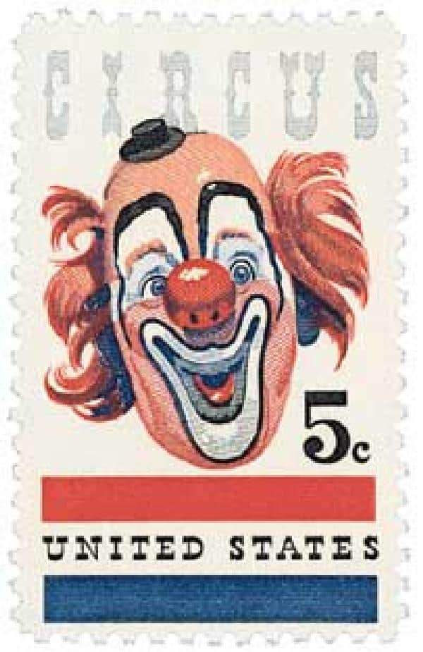 Commemorative 1966 Circus Stamp