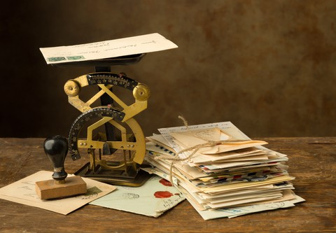 Letter writing themed novelty items
