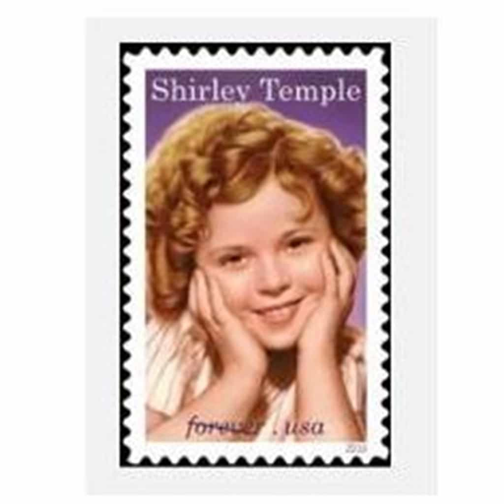 Shirley Temple stamp debuts today