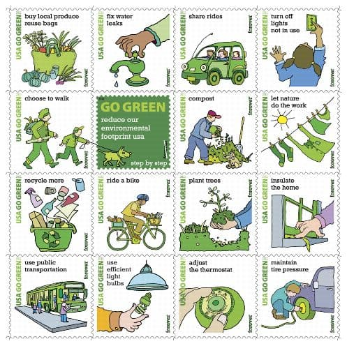 Go Green Seeded Postcards Set