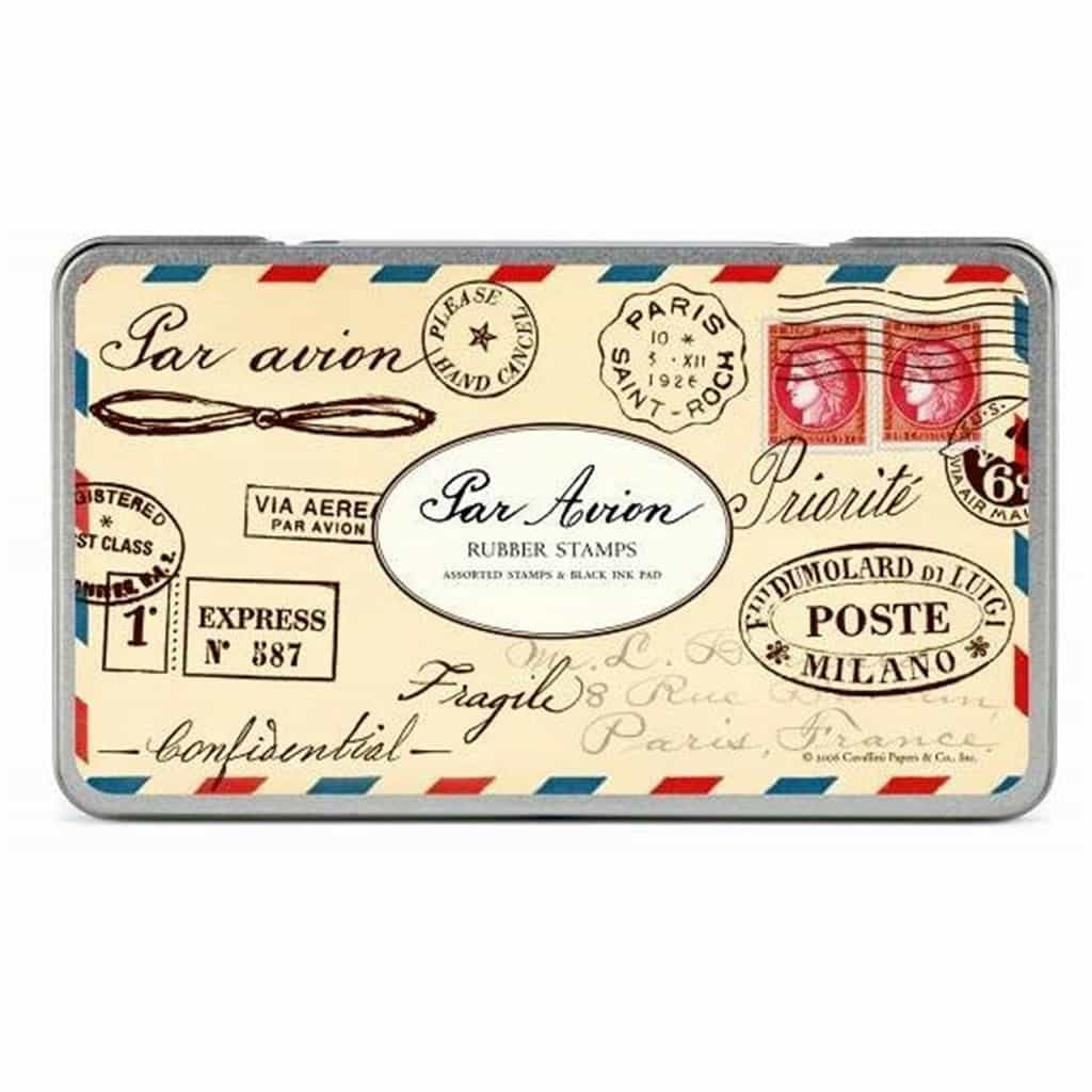 Cavallini Rubber Stamps Par Avion