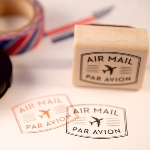 The Well Appointed Desk Par Avion stamp