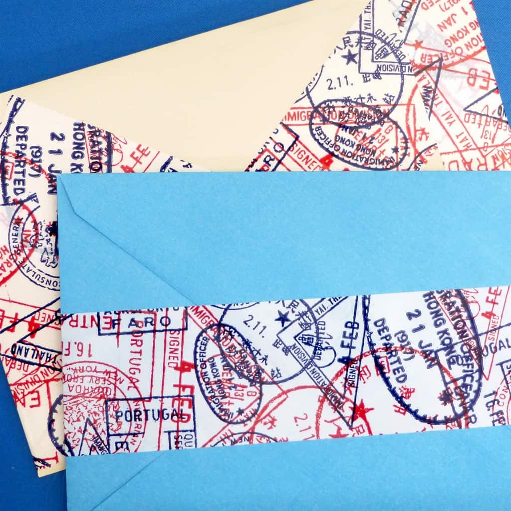 Passport Stamp Pattern Packaging Tape Snailmail