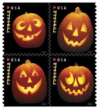 2016 Jack O Lanterns Forever Halloween Stamps