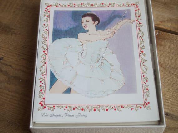 Vintage Sugar Plum Fairy Nutcracker Cards