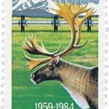 North to Alaska Statehood 1984 stamp