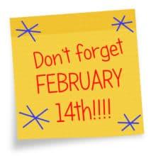 Valentines Day Card Reminder