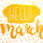 "March 2017 ""Hello March"" Calendar Planning Lent Letters Lent with Neil Young"