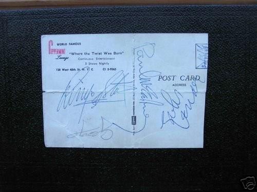 Beatles Ed Sullivan February 9 & Postcard