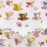 Carol Wilson Teacups Embossed Note Card Set