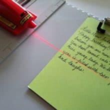 Beam Me Up! SlideWriter Laser Guide Letter Writing Calligraphy