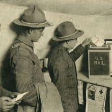 Smithsonian National Postal Museum World War I Letters Exhibit
