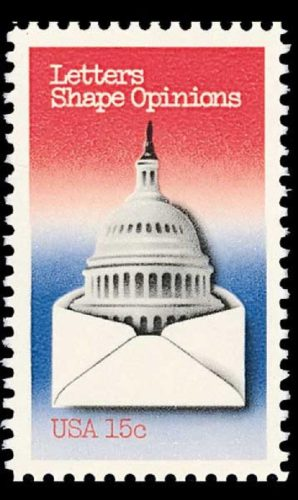 Letters Shape Opinions 1980 stamp