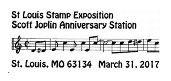 Scott Joplin Anniversary Station Pictorial Postmark