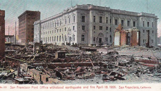 1906 Great San Francisco Earthquake Post Office Postcards, Mail, and Letter Writers