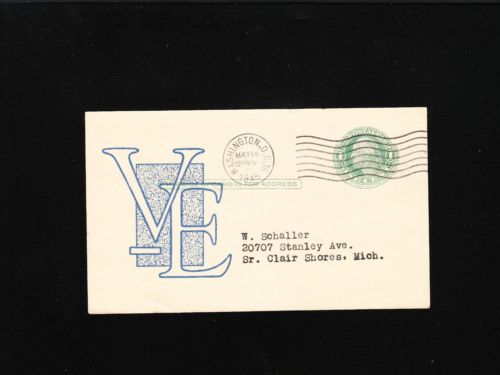 WWII Patriotic VE Day Postcard Cover
