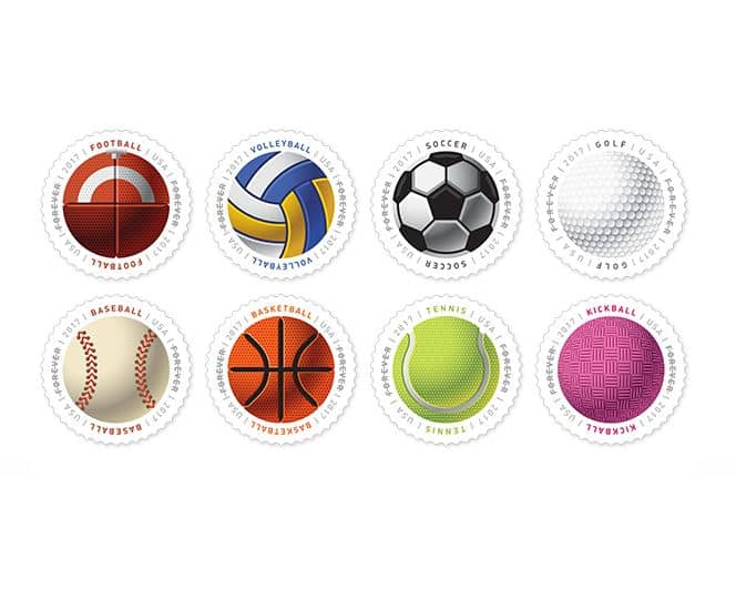 Ferris & Play Ball USPS Stamps June 2017 Announced