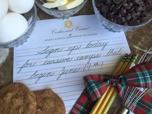 Cookies and Cursive Handwriting Summer Camp