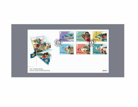 Lions Clubs International 100th Anniversary Postmarks