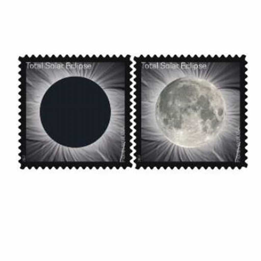 Total Eclipse of the Sun Forever Stamp & Postmark