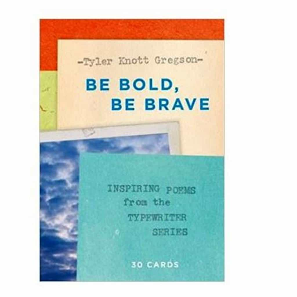 Be Bold Be Brave Typewriter Postcard Book