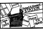 Typewriter Robert E Howard Pictorial Postmark