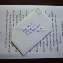 Snail Mail Origami Envelope Free at Instructables