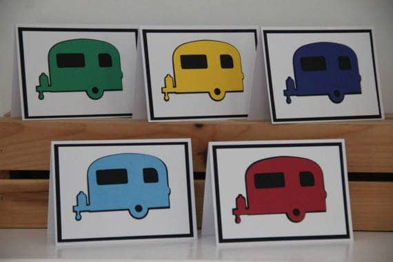 DandACards RV Camper Cards Stationery
