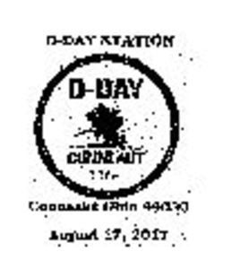 D-Day Ohio Conneaut Pictorial Postmark 2017