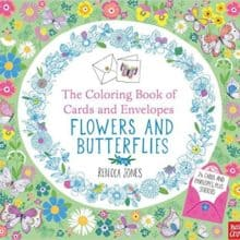 Coloring Book of Cards and Envelopes: Flowers & Butterflies